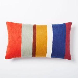 west elm | Crewel Color Block Pillow Cover